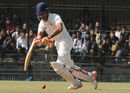 Manprit Juneja's bat snaps during his innings, Gujarat v Mumbai, Ranji Trophy 2016-17, final, Indore, 2nd day, January 11, 2017