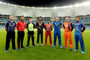 The captains of the eight participating teams in the Desert T20, Dubai, January 11, 2017