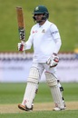 Mominul Haque celebrates his half-century, New Zealand v Bangladesh, 1st Test, Wellington, 1st day, January 12, 2017