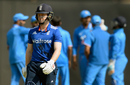 Eoin Morgan walks back after a first-ball duck, India A v England XI, Mumbai, January 12, 2017