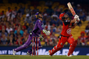 Aaron Finch and Tim Paine look on after the batsman skies the ball, Melbourne Renegades v Hobart Hurricanes, BBL 2016-17, Melbourne, January 12, 2017
