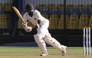 Suryakumar Yadav nudges the ball on to the leg side,  Gujarat v Mumbai, Ranji Trophy 2016-17, final, 3rd day, Indore, January 12, 2017