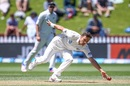 Trent Boult moves to his left to field off his own bowling, New Zealand v Bangladesh, 1st Test, Wellington, 2nd day, January 13, 2017