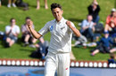 Trent Boult reacts to finally dismissing Mushfiqur Rahim, New Zealand v Bangladesh, 1st Test, Wellington, 2nd day, January 13, 2017