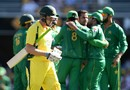 James Faulkner was Mohammad Nawaz's only wicket, Australia v Pakistan, 1st ODI, Brisbane, January 13, 2017