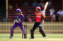 Ellyse Perry flays one through point, Sydney Sixers v Hobart Hurricanes, Women's Big Bash League 2016-17, Sydney, January 13, 2017