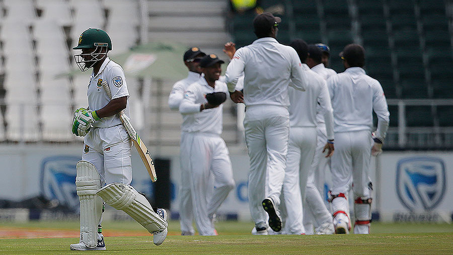 Temba Bavuma's troubles continued with a second-ball duck