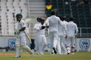 Temba Bavuma's troubles continued with a second-ball duck, South Africa v Sri Lanka, 3rd Test, Johannesburg, 2nd day, January 13, 2017