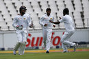 Nuwan Pradeep claimed four wickets for one run in the space of 18 balls, South Africa v Sri Lanka, 3rd Test, Johannesburg, 2nd day, January 13, 2017