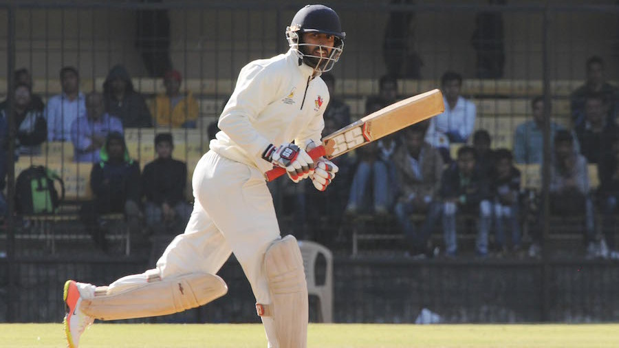 Abhishek Nayar clips one through the on side