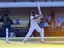 Priyank Panchal chases a ball outside off, Gujarat v Mumbai, Ranji Trophy 2016-17, final, 4th day, Indore, January 13, 2017