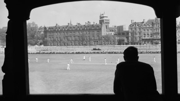 A man watching cricket