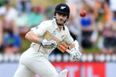 Kane Williamson watches the ball speed away, New Zealand v Bangladesh, 1st Test, Wellington, 3rd day, January 14, 2017