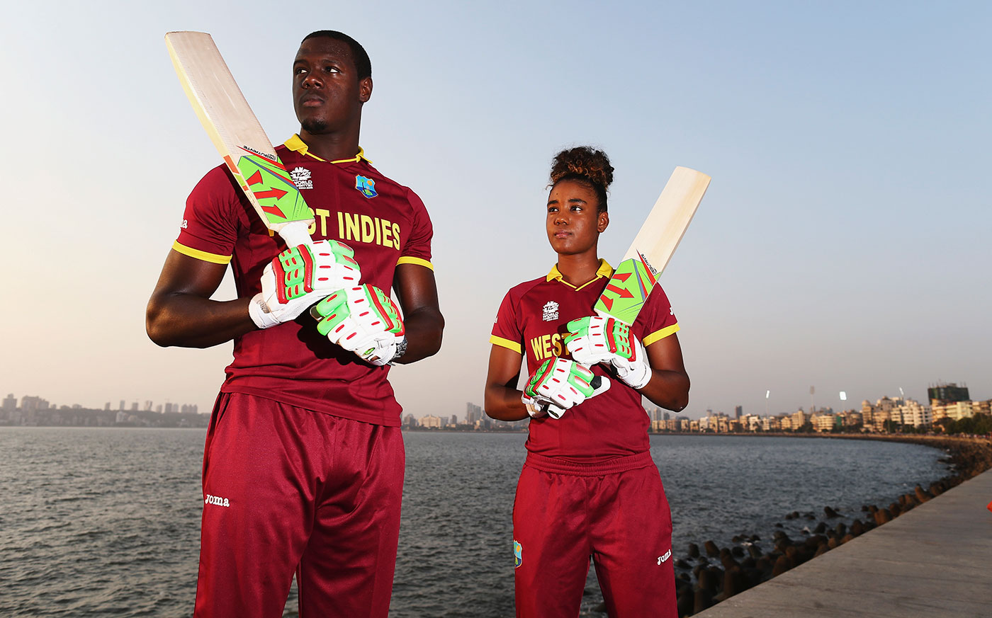 Carlos Brathwaite, the hero of the men's World T20, is a mentor, friend and equipment sponsor to Matthews