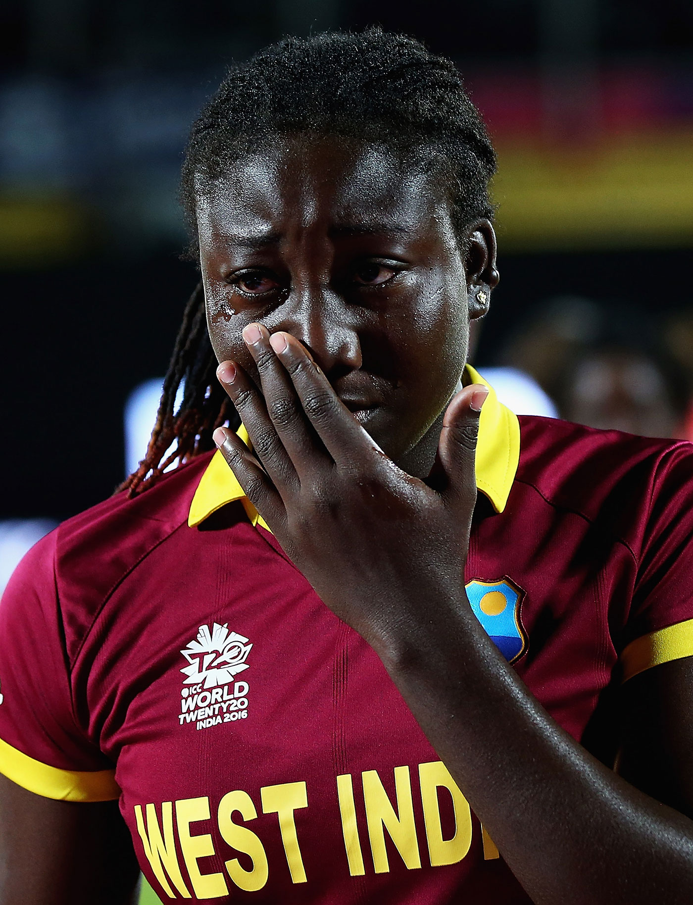 Taylor gets emotional after losing to England in the group stages of the 2016 World T20