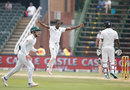 Kagiso Rabada claimed the key wicket of Angelo Mathews, South Africa v Sri Lanka, 3rd Test, Johannesburg, 3rd day, January 14, 2017