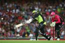 Jams Vince hits one on the up, Sydney Sixers v Sydney Thunder, BBL, SCG, January 14, 2017