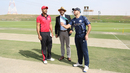 Scotland captain Kyle Coetzer spins the coin at the toss, Hong Kong v Scotland, Desert T20, Group B, Abu Dhabi, January 14, 2017