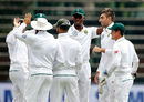 Duanne Olivier claimed his second wicket to remove Upul Tharanga, South Africa v Sri Lanka, 3rd Test, Johannesburg, 3rd day, January 14, 2017