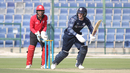George Munsey works the ball into the leg side for a run, Hong Kong v Scotland, Desert T20, Group B, Abu Dhabi, January 14, 2017