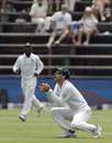 Stephen Cook steadies under a catch, South Africa v Sri Lanka, 3rd Test, Johannesburg, 3rd day, January 14, 2017