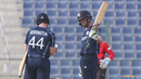 Calum MacLeod brought up his fifty as part of a Scotland T20I record stand of 127 with Richie Berrington, Hong Kong v Scotland, Desert T20, Group B, Abu Dhabi, January 14, 2017