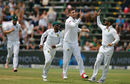 Duanne Olivier removed Dhananjaya de Silva in the follow-on, South Africa v Sri Lanka, 3rd Test, Johannesburg, 3rd day, January 14, 2017