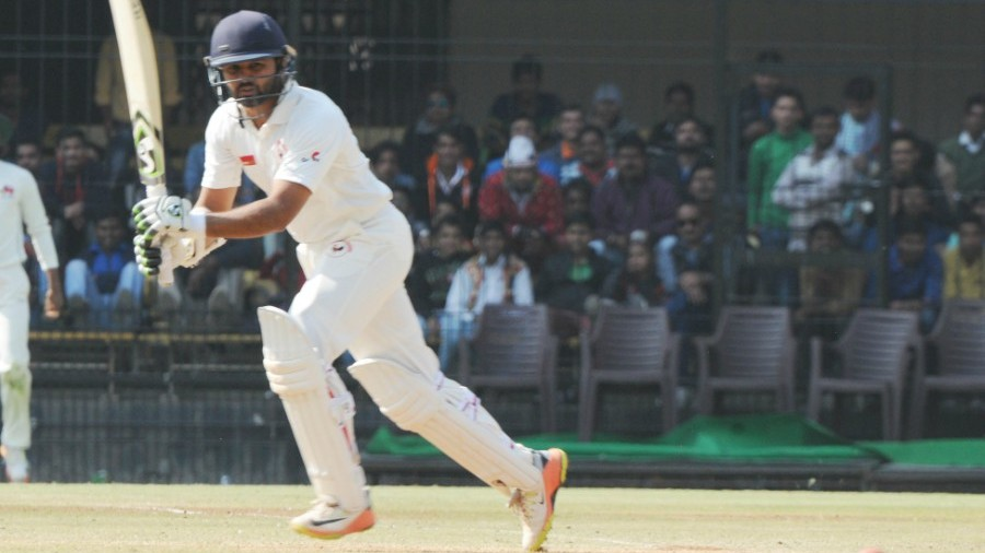Parthiv Patel works the ball around