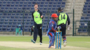 George Dockrell roars after trapping Samiullah Shenwari lbw, Afghanistan v Ireland, Desert T20, Group A, Abu Dhabi, January 14, 2017