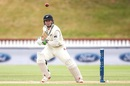 Henry Nicholls dabs the ball in front of point, New Zealand v Bangladesh, 1st Test, Wellington, 4th day, January 15, 2017