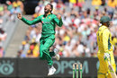 Junaid Khan is overjoyed after dismissing Usman Khawaja, Australia v Pakistan, 2nd ODI, Melbourne, January 15, 2017