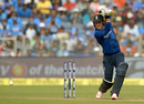 Jason Roy drives on the up through the off side, India v England, 1st ODI, Pune, January 15, 2017