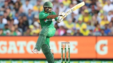 Mohammad Hafeez tries to pull one away