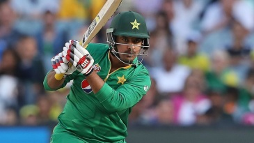 Sharjeel Khan crunches one through the off side