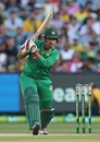 Sharjeel Khan crunches one through the off side, Australia v Pakistan, 2nd ODI, Melbourne, January 15, 2017