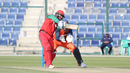 Zeeshan Maqsood strikes his first delivery for four over mid-off, Netherlands v Oman, Desert T20, Group B, Abu Dhabi, January 15, 2017