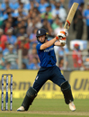 Jos Buttler makes room and creams one through the off side, India v England, 1st ODI, Pune, January 15, 2017