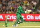 Shoaib Malik steers one square of the wicket, Australia v Pakistan, 2nd ODI, Melbourne, January 15, 2017