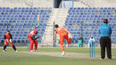 Paul van Meekeren regularly made Oman's batsmen uncomfortable during his four overs, Netherlands v Oman, Desert T20, Group B, Abu Dhabi, January 15, 2017