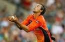 Ashton Agar takes a catch to dismiss Joe Burns, Brisbane Heat v Perth Scorchers, Big Bash League 2016-17, Brisbane, January 11, 2017
