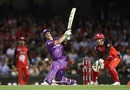 Ben McDermott launches one into the leg side, Melbourne Renegades v Hobart Hurricanes, BBL 2016-17, Melbourne, January 12, 2017