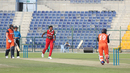 Oman fielders cry for catch but it's only Michael Rippon's broken bat in the air, Netherlands v Oman, Desert T20, Group B, Abu Dhabi, January 15, 2017