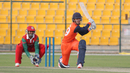 Michael Rippon goes for a reverse sweep during his 40, Netherlands v Oman, Desert T20, Group B, Abu Dhabi, January 15, 2017
