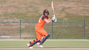 Wesley Barresi punches one through the off side during his 48, Netherlands v Oman, Desert T20, Group B, Abu Dhabi, January 15, 2017