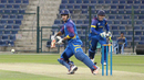 JP Kotze completes a reverse sweep to medium pacer Amjad Javed on his way to a half-century, UAE v Namibia, Desert T20, Group A, Abu Dhabi, January 15, 2017