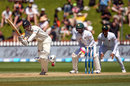 Kane Williamson flicks one away during his rapid knock, New Zealand v Bangladesh, 1st Test, Wellington, 5th day, January 16, 2017