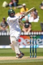Sabbir Rahman pulls en route to his half-century, New Zealand v Bangladesh, 1st Test, Wellington, 5th day, January 16, 2017