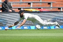 Dean Brownlie dives to prevent a boundary, New Zealand v Bangladesh, 1st Test, Wellington, 5th day, January 16, 2017