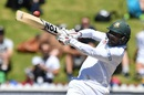 Imrul Kayes rocks back to pull, New Zealand v Bangladesh, 1st Test, Wellington, 5th day, January 16, 2017