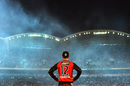 Callum Ferguson watches the fireworks while fielding, Adelaide Strikers v Melbourne Renegades, BBL 2016-17, Adelaide, January 16, 2017